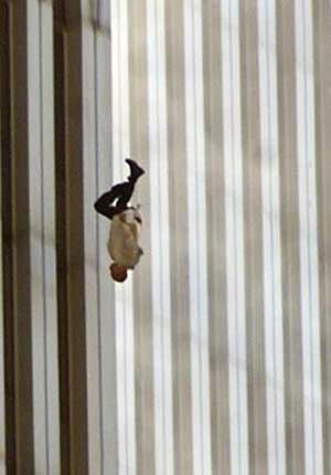 Man falling from tower September 11 Attacks