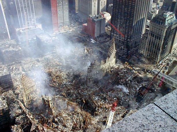 Devastation in the aftermath of  September 11 Terror Attacks